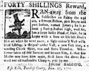 Dec 17 1770 - New-York Gazette and Weekly Mercury Slavery 1