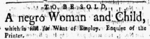 Dec 17 1770 - New-York Gazette and Weekly Mercury Slavery 2