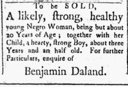 Dec 18 1770 - Essex Gazette Slavery 1