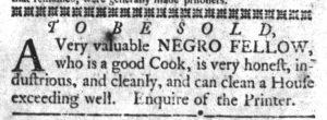Dec 18 1770 - South-Carolina Gazette and Country Journal Slavery 1