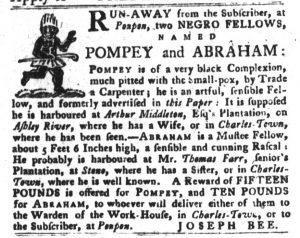Dec 18 1770 - South-Carolina Gazette and Country Journal Slavery 10