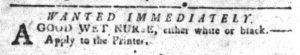 Dec 18 1770 - South-Carolina Gazette and Country Journal Slavery 2