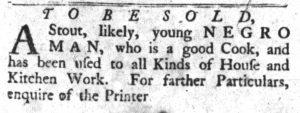 Dec 18 1770 - South-Carolina Gazette and Country Journal Slavery 3