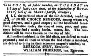 Dec 18 1770 - South-Carolina Gazette and Country Journal Slavery 4
