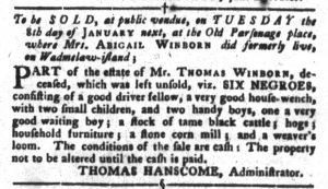 Dec 18 1770 - South-Carolina Gazette and Country Journal Slavery 5