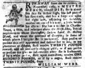 Dec 18 1770 - South-Carolina Gazette and Country Journal Supplement Slavery 2