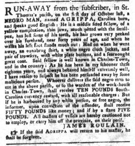 Dec 18 1770 - South-Carolina Gazette and Country Journal Supplement Slavery 3