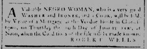 Dec 19 1770 - South-Carolina and American General Gazette Slavery 1