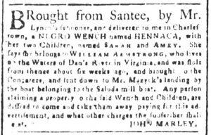 Dec 19 1770 - South-Carolina and American General Gazette Slavery 11