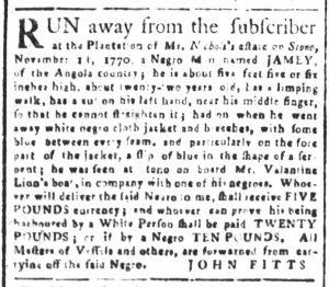 Dec 19 1770 - South-Carolina and American General Gazette Slavery 12