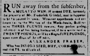 Dec 19 1770 - South-Carolina and American General Gazette Slavery 2