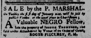 Dec 19 1770 - South-Carolina and American General Gazette Slavery 3
