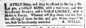 Dec 19 1770 - South-Carolina and American General Gazette Slavery 4