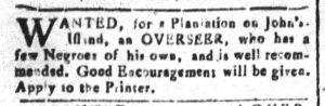 Dec 19 1770 - South-Carolina and American General Gazette Slavery 5