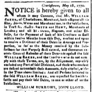 Dec 19 1770 - South-Carolina and American General Gazette Slavery 6