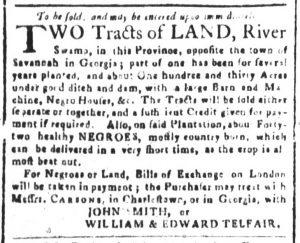 Dec 19 1770 - South-Carolina and American General Gazette Slavery 9