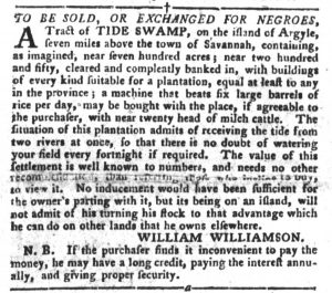 Dec 25 1770 - South-Carolina Gazette and Country Journal Slavery 1