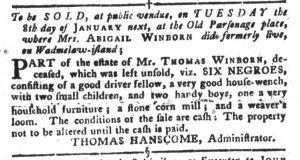 Dec 25 1770 - South-Carolina Gazette and Country Journal Slavery 11