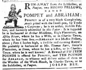 Dec 25 1770 - South-Carolina Gazette and Country Journal Slavery 12