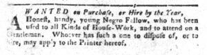 Dec 25 1770 - South-Carolina Gazette and Country Journal Slavery 2