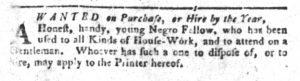 Dec 25 1770 - South-Carolina Gazette and Country Journal Slavery 2