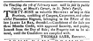 Dec 25 1770 - South-Carolina Gazette and Country Journal Slavery 3