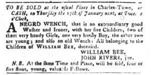 Dec 25 1770 - South-Carolina Gazette and Country Journal Slavery 4