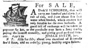 Dec 25 1770 - South-Carolina Gazette and Country Journal Slavery 5