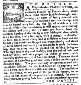 Dec 25 1770 - South-Carolina Gazette and Country Journal Slavery 8