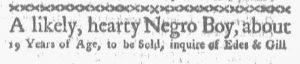 Dec 3 1770 - Boston-Gazette Supplement Slavery 1