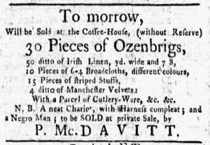 Dec 3 1770 - New-York Gazette and Weekly Mercury Slavery 1