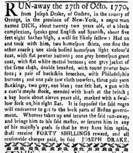 Dec 3 1770 - New-York Gazette and Weekly Mercury Supplement Slavery 3