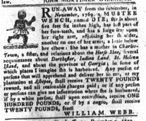 Dec 4 1770 - South-Carolina Gazette and Country Journal Slavery 2