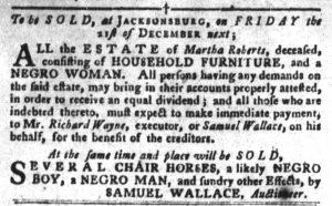 Dec 4 1770 - South-Carolina Gazette and Country Journal Slavery 3