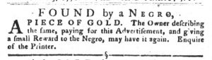 Dec 4 1770 - South-Carolina Gazette and Country Journal Supplement Slavery 1