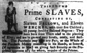 Dec 4 1770 - South-Carolina Gazette and Country Journal Supplement Slavery 4