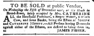 Dec 4 1770 - South-Carolina Gazette and Country Journal Supplement Slavery 5