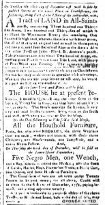 Dec 5 1770 - South-Carolina and American General Gazette Slavery 4