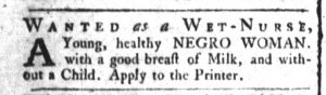 Dec 5 1770 - South-Carolina and American General Gazette Slavery 6