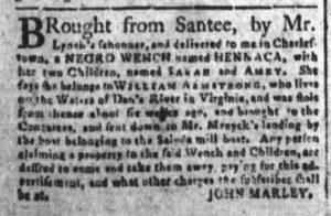 Dec 5 1770 - South-Carolina and American General Gazette Slavery 7