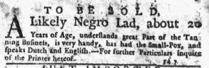 Dec 6 1770 - New-York Journal Slavery 1