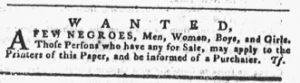 Dec 6 1770 - Pennsylvania Gazette Slavery 1