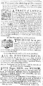 Dec 6 1770 - South-Carolina Gazette Slavery 2