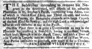 Dec 6 1770 - South-Carolina Gazette Slavery 3