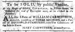 Dec 6 1770 - South-Carolina Gazette Slavery 4