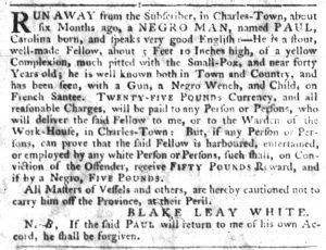 Dec 6 1770 - South-Carolina Gazette Slavery 5