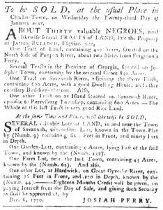 Dec 6 1770 - South-Carolina Gazette Slavery 8