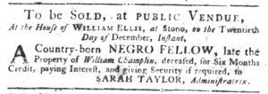 Dec 6 1770 - South-Carolina Gazette Slavery 9