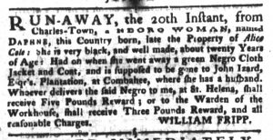 May 1 1770 - South-Carolina Gazette and Country Journal Slavery 5