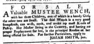 May 1 1770 - South-Carolina Gazette and Country Journal Slavery 6